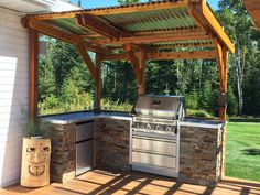 "Obtain fantastic ideas on ""outdoor kitchen designs ideas"". They are available for you on our site. : Obtain fantastic ideas on ""outdoor kitchen designs ideas"". They are available for you on our site. Simple Outdoor Kitchen, Outdoor Kitchen Grill, Backyard Kitchen, Backyard Patio, Patio Grill, Pergola Patio, Diy Patio, Gazebo, Covered Outdoor Kitchens"
