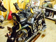 Harley Soft tail Deluxe & Nite Train.