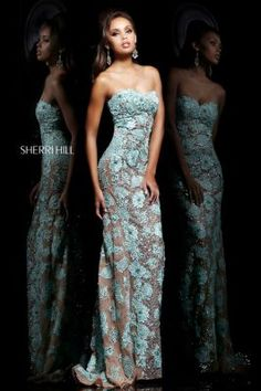 Sherri Hill Lace Dress - Available at Twilight Formals, located in Pensacola, Florida. To view our full collection go to twilightformals.com or contact us at (850)332-6796