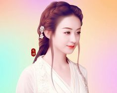 Chinese Painting, Chinese Art, Girl Cartoon, Cute Cartoon, Pictures To Paint, Cool Pictures, Princess Agents, Zhao Li Ying, Classy Girl