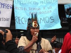 Stand with the Sápara People to Reject Today's Sham Contract - Amazon Watch - Ecuador and China just signed a deal to drill for oil in half a million acres of indigenous territory in the middle of the Ecuadorian Amazon. Let them know the rainforest and the Sápara people who live there are worth more than a few hours of global oil supply! #KeepItInTheGround