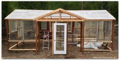 recycled patio door greenhouse - Google Search
