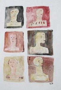 Bald Is Beautiful 11.5 x 8 , mixed media on paper. Scott Bergey.