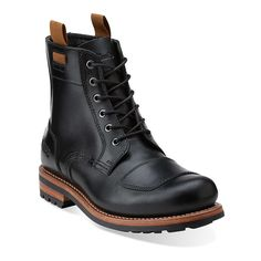 Norton Rise in Black Leather - Mens Boots from Clarks