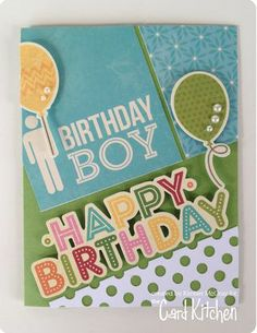 Birthday Boy card by Kimber McGray for the Card Kitchen Kit Club using the March 2014 Card Kitchen Kit