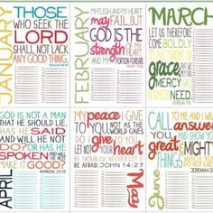 Bible Verse Calendar (for my bible study ladies!)