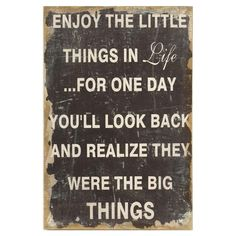 #Enjoy #The #Little #Things #Wall #Sign