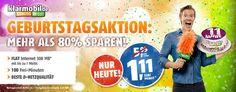 Handyvertrag im Telekom Netz für 1,11€ mit 300MB + 100 Freiminuten http://www.simdealz.de/telekom/klarmobil-smart-flat-300mb/