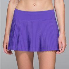 Lululemon purple pleate to street skirt II NWT ultra swift purple Lululemon skirt lululemon athletica Skirts