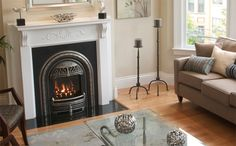 The WINDSOR can be used as a fireplace system for new construction or as a gas insert into an existing fireplace. (Fits into very small fireplaces) Unique coal effect fire and English style cast ir… Fireplace Built Ins, Fireplace Inserts, Fireplace Design, Fireplace Ideas, Fireplace Cover, Small Gas Fireplace, Fireplace Candles, Craftsman Fireplace, Houses