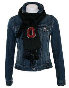 Collegiate Fashionista Ohio State University Pashima, Versatile Woman's Scarf, Rhinestone Embellished with School Logo Collegiate Fashionista. $26.95