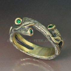 STONE TIP Branch Wedding Band  a Natural Twigs and Branches