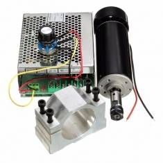 ER11 Chuck CNC 500W Spindle Motor with 52mm Clamps and Power Supply Speed Governor