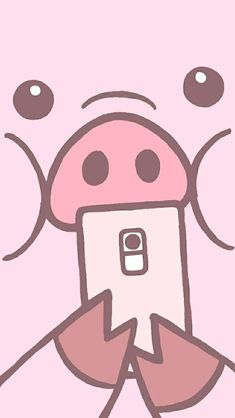 Pig Wallpaper, Iphone Homescreen Wallpaper, Funny Iphone Wallpaper, Disney Phone Wallpaper, Kawaii Wallpaper, Cute Wallpaper Backgrounds, Animal Wallpaper, Cute Cartoon Wallpapers, Cute Bear Drawings