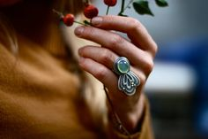 Last Gasp Ring by thenoisyplume on Etsy, $223.00