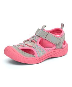 Another great find on #zulily! Silver & Pink Jax Sandal #zulilyfinds