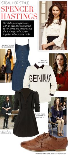 Steal Her Style: Spencer Hastings of Pretty Little Liars #PLL