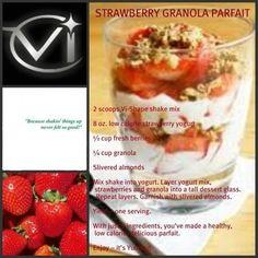 strawberry-granola-parfait ala Visalus