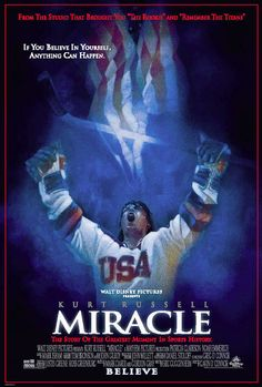 Directed by Gavin O'Connor.  With Kurt Russell, Patricia Clarkson, Nathan West, Noah Emmerich. Miracle tells the true story of Herb Brooks (Russell), the player-turned-coach who led the 1980 U.S. Olympic hockey team to victory over the seemingly invincible Russian squad.