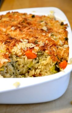 Rice Pie with Vegetables