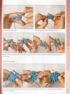 De tejido crochet y otras yerbas....: Chal en free form.... - meer uitleg