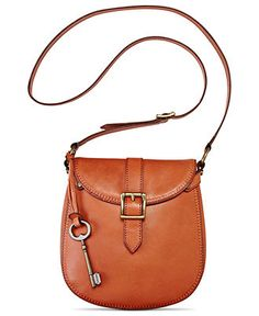 Fossil Handbag, Vintage Revival Small Flap Leather Crossbody - Handbags & Accessories - Macy's