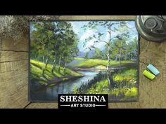 How to draw a landscape with birches with soft pastels Landscapes - YouTube