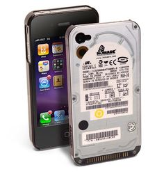 f you're the type that enjoys novel iPhone cases, you might be interested in checking out this particular iPhone case that has been designed to look like an internal hard drive. As pictured above, this particular case has been designed in such a way that it mimics the look of an internal hard drive, complete with barcodes, stickers, text and even a metallic appearance, although we're not sure if those barcodes or texts actually have any meaning to them or if they're just randomly generated.