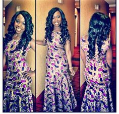 Ankara style..Luv her hair..