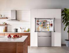 B36CL80ENS - Google Search 4 Door Refrigerator, Counter Depth Refrigerator, Shallow Shelves, Deep Shelves, Bosch Appliances, Kitchen Appliances, Freestanding Fridge, Stainless Steel Bar, Tips & Tricks