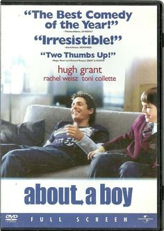 """About a Boy (DVD Full screen) starring Hugh Grant-Romantic comedy, hilarious  ABOUT A BOY, directed by Chris and Paul Weitz, stars Hugh Grant as Will Freeman, a proudly self-absorbed 38-year-old Londoner. Living lavishly off the royalties from a hit Christmas song penned by his father, Will excels at nothing except doing nothing, which, in his case, includes shopping for CDs and having his hair """"professionally disheveled."""" When Will makes a guilt-free exit from a brief fling with a single…"""