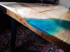 Sold – Epoxy stream coffee table – coffee table – live edge coffee table – epoxy and wood table – ep - Pallet Furniture Ideas Slab Table, Resin Table, Wood Table, Bar Top Epoxy, Resin Furniture, Furniture Ideas, Small Coffee Table, Coffee Tables, Wood Resin