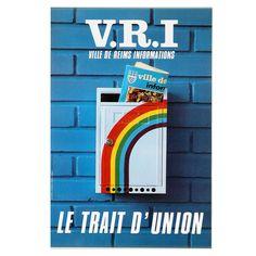CARTON. NOUVEL . V.R.I. Le trait d'union Trait D Union, Reims, Auction, Posters, Event Posters, Poster, Billboard