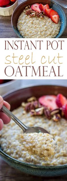 Learn how to make PERFECT Instant Pot Steel Cut Oats with this recipe! In just 30 minutes, you'll have delicious, creamy, and hearty steel cut oats. It makes for a wonderful healthy breakfast recipe! #instantpot #instantpotrecipes #instantpotsteelcutoats #steelcutoats