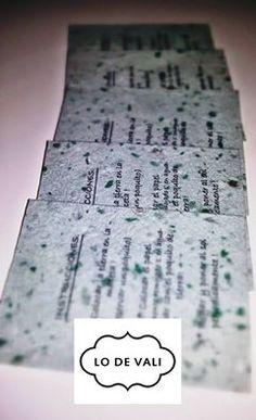 F: Lo de Vali  Inst: lodevali papel plantable artesanal ! para armar los souvenir mas lindos para que regales a tus invitados!