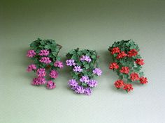 Ivy Leaf Geranium Paper Flower Kit for by TheMiniatureGarden