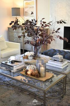 My Top Ten Posts from 2018 - Autumn Home Tour with Warm Neutral Tones - Home with Holliday Informati Warm Home Decor, Home Decor Colors, Hippie Home Decor, Cheap Home Decor, Diy Home Decor, Coffee Table Styling, Decorating Coffee Tables, Fall Decorating, Decoration Table