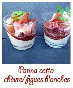 Ingrédients pour 4 verrines : – 40 cl de crême liquide – 1 buche de chèvre – 4 feuilles de gélatine – Sel, poivre – confiture de figues blanches – 4 tranches de …