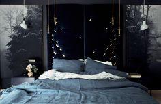 lniana pościel indygo - dom artystyczny wystrój wnętrz tkaniny dekoracyjne, bawełniane, lniane, patchworki dla dzieci
