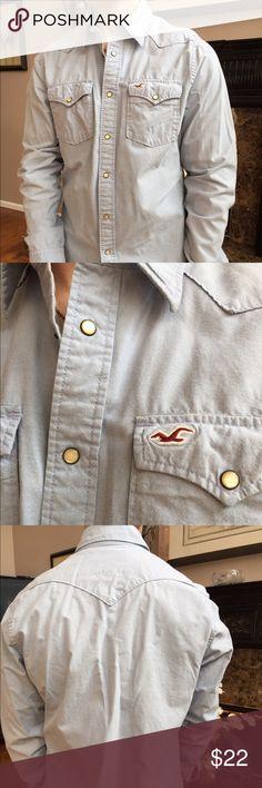 Hollister mans shirt XL Jean mans shirt, Hollister with soap buttons, XL Hollister Shirts Casual Button Down Shirts