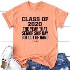 Class of 2020 Senior Skip Day - Senior Shirts - Ideas of Senior Shirts - Class of 2020 Senior Skip Day Piper Lou Collection Senior Class Shirts, Graduation Shirts, Graduation Ideas, Senior Graduation Quotes, Graduation Parties, Senior Quotes, Graduation Photos, Best Friend Poems, Movie Quotes