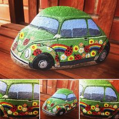 Love Bug flower power VW Beetle!