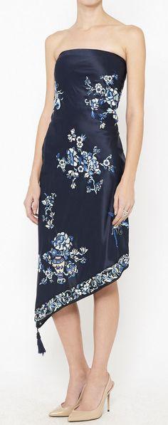 Ralph Lauren Navy Blue Dress   VAUNTE