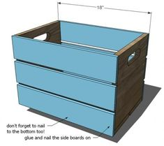 DIY wooden crate. I'm really obsessed with the idea of crates for decorating. I think Mr. and I need to get on this asap.