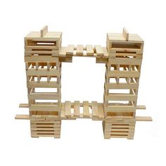 Wooden Building Blocks, Wood Blocks, Diy For Kids, Crafts For Kids, Jenga Blocks, Wood Architecture, Engineering Projects, Preschool Learning, Wooden Toys