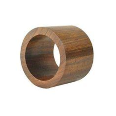 DII Wooden Napkin Ring, Set of 4