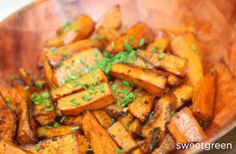 Balsamic glazed sweet potatoes