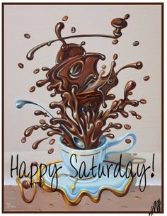 Original paintings for sale. Coffee Heart, Coffee Talk, I Love Coffee, My Coffee, Coffee Shop, Coffee Pics, Saturday Coffee, Good Morning Coffee, Happy Saturday