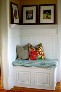 corner bench, entryway