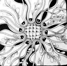 Miimis Tangle Doodles Zentangles, Zentangle Patterns, Zen Doodle, Doodle Art, Illusion Art, Art Drawings, Pencil Drawings, Rwby, Optical Illusions